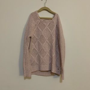 American Eagle Pink Chunky Knit Sweater